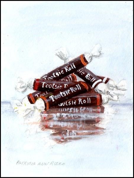 """A Pile of Tootsies"" original fine art by Patricia Ann Rizzo"