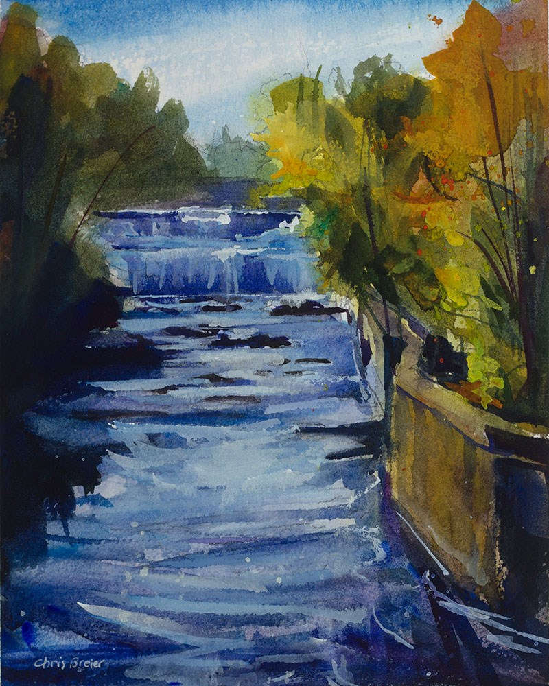"""Glen Falls, Williamsville"" original fine art by Chris Breier"