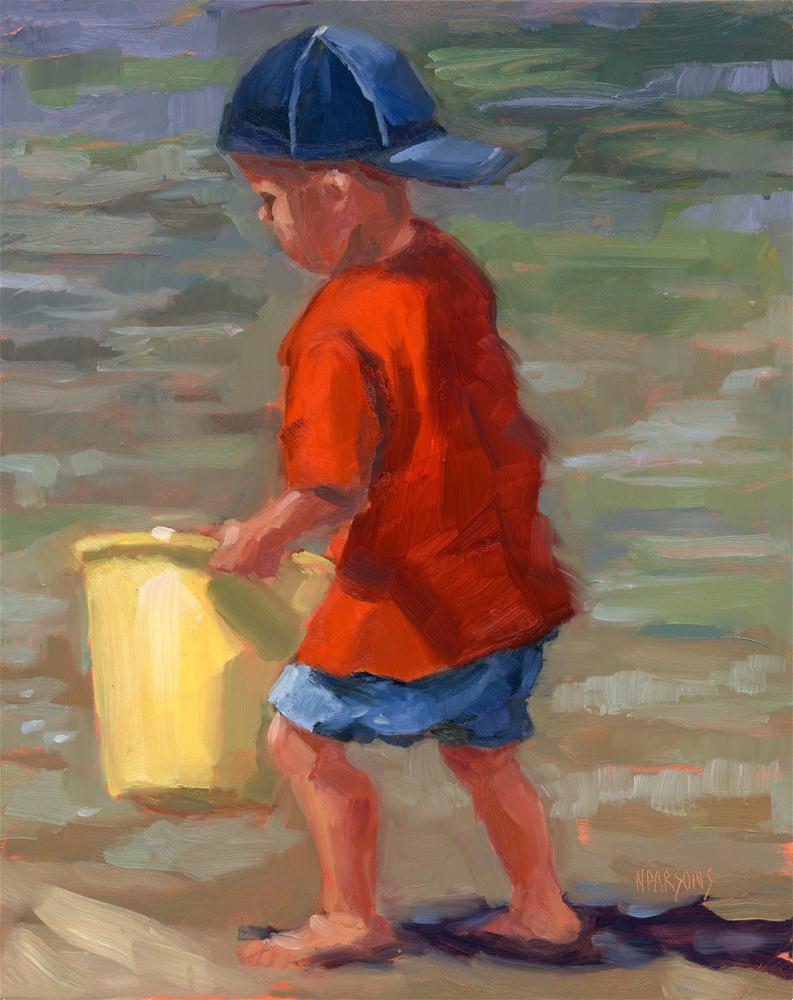 """Private Collector"" original fine art by Nancy Parsons"