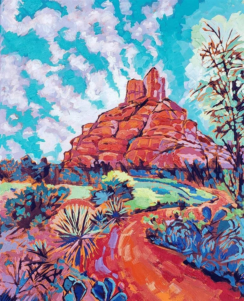 """Bell Rock"" original fine art by Bhavna Misra"