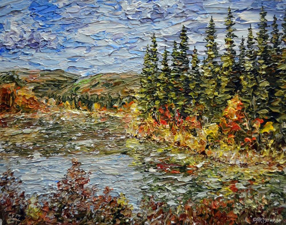 """""""North Fork Chena River"""" original fine art by Gloria Ester"""
