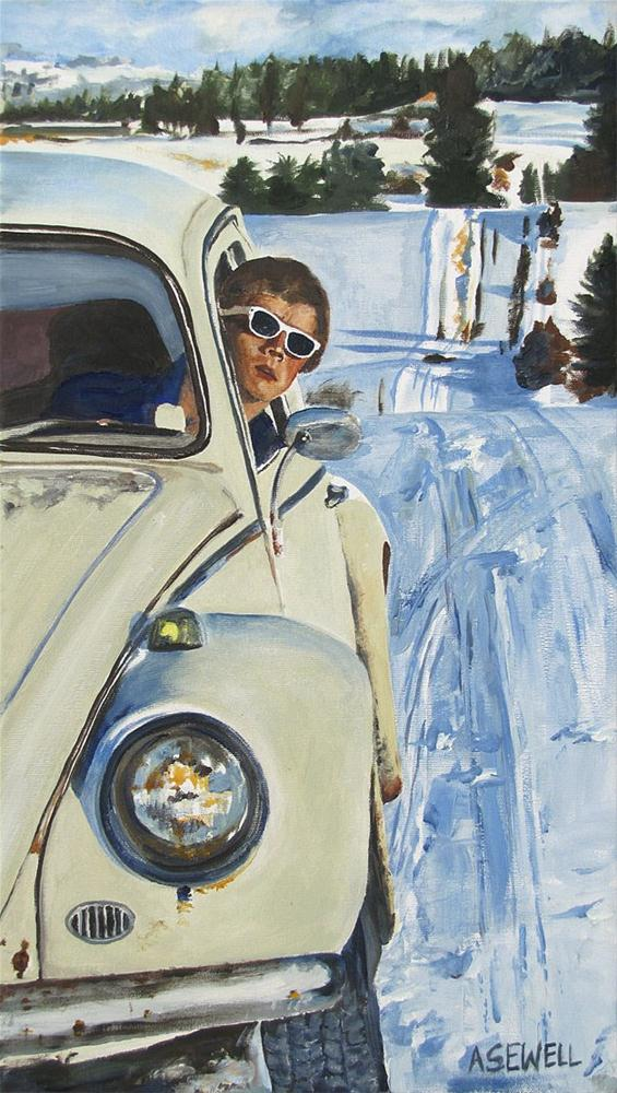 """""""Josh and his Bug"""" original fine art by Andy Sewell"""