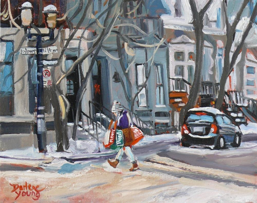 """1035 McGill Ghetto, Laundry Day, 8x10 Oil on Board"" original fine art by Darlene Young"