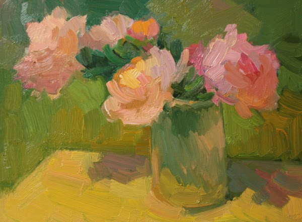 """Roses on the Deck"" original fine art by Kathryn Townsend"