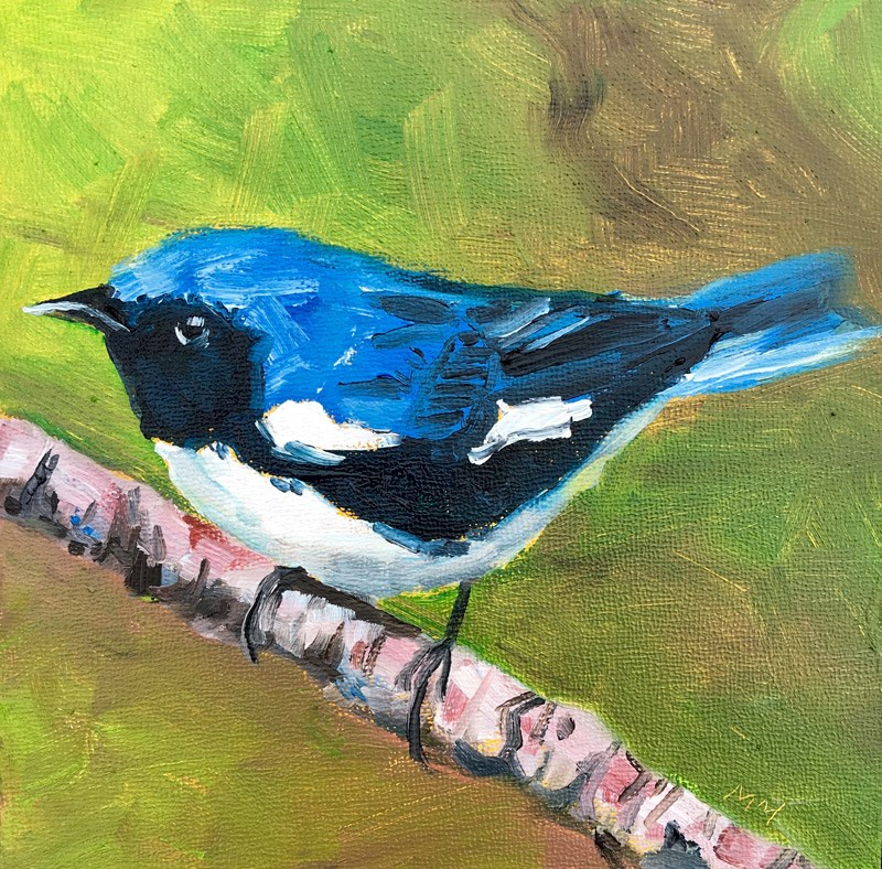 """Mr. Blue"" original fine art by Maria McNitt"