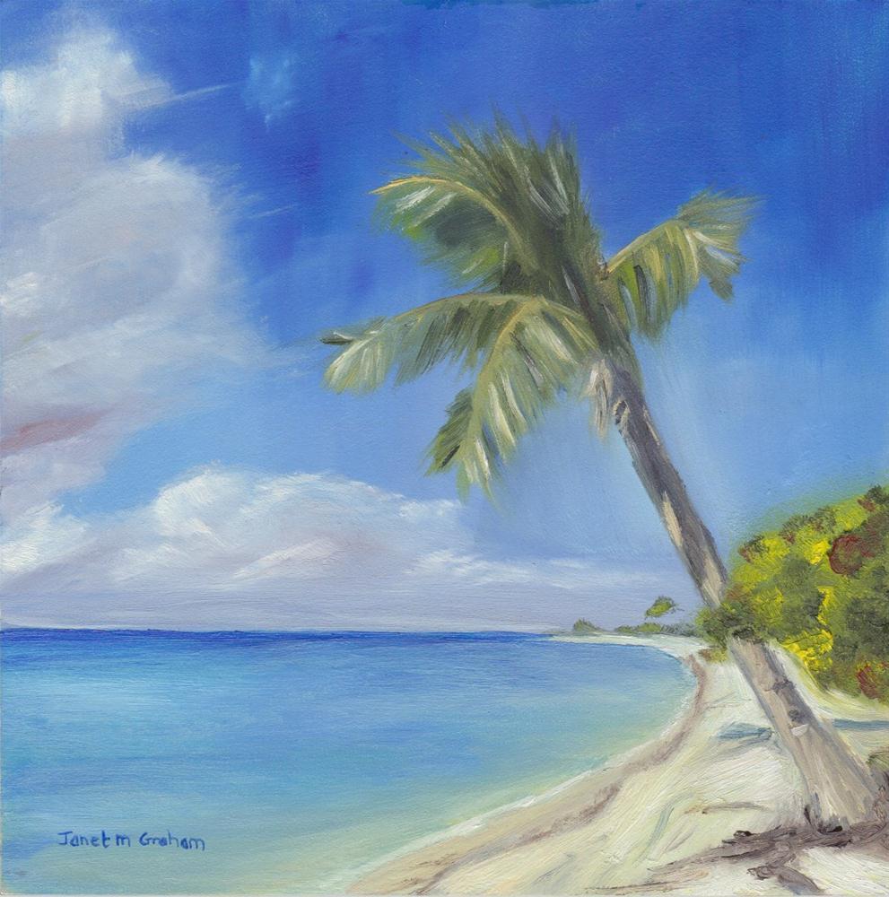 """Tropical Island"" original fine art by Janet Graham"