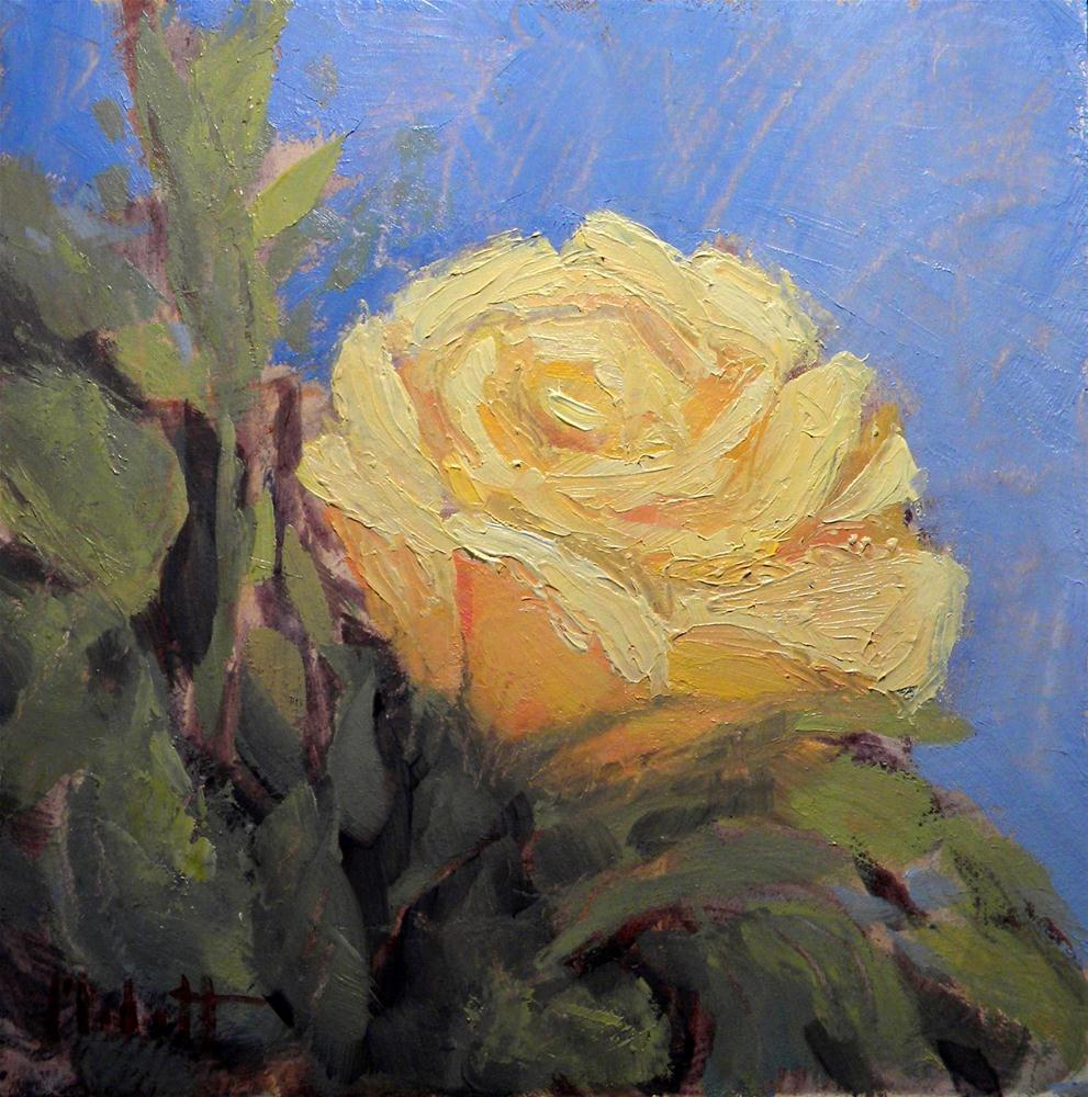 """Yellow Rose Oil Painting Spring Bouquet"" original fine art by Heidi Malott"
