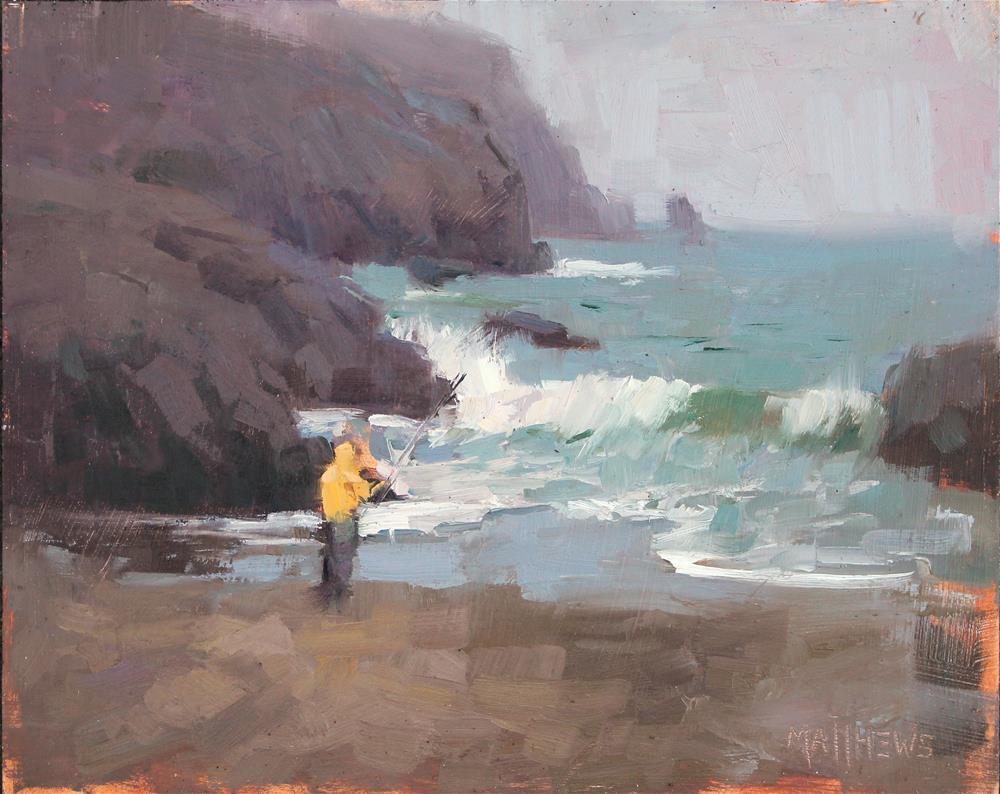 """The Raincoat"" original fine art by Kristian Matthews"