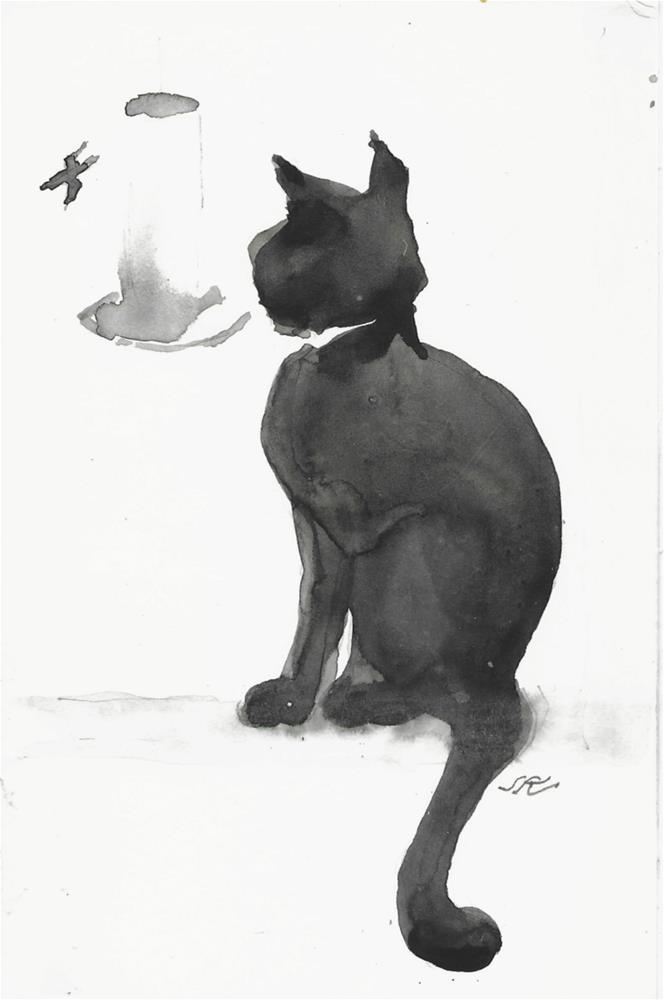 """Daily Cat 43"" original fine art by Jean Krueger"
