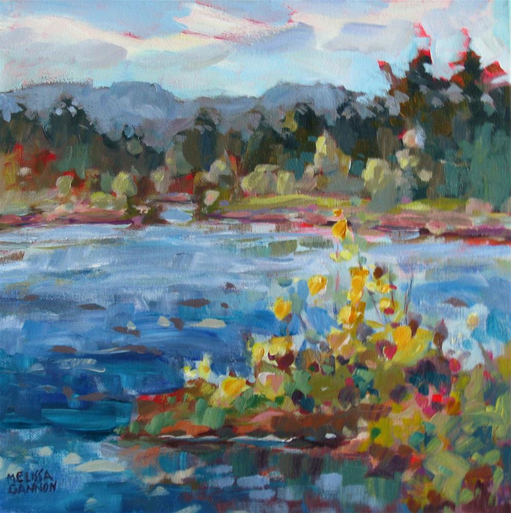 """""""Summer Afternoon at the River"""" original fine art by Melissa Gannon"""