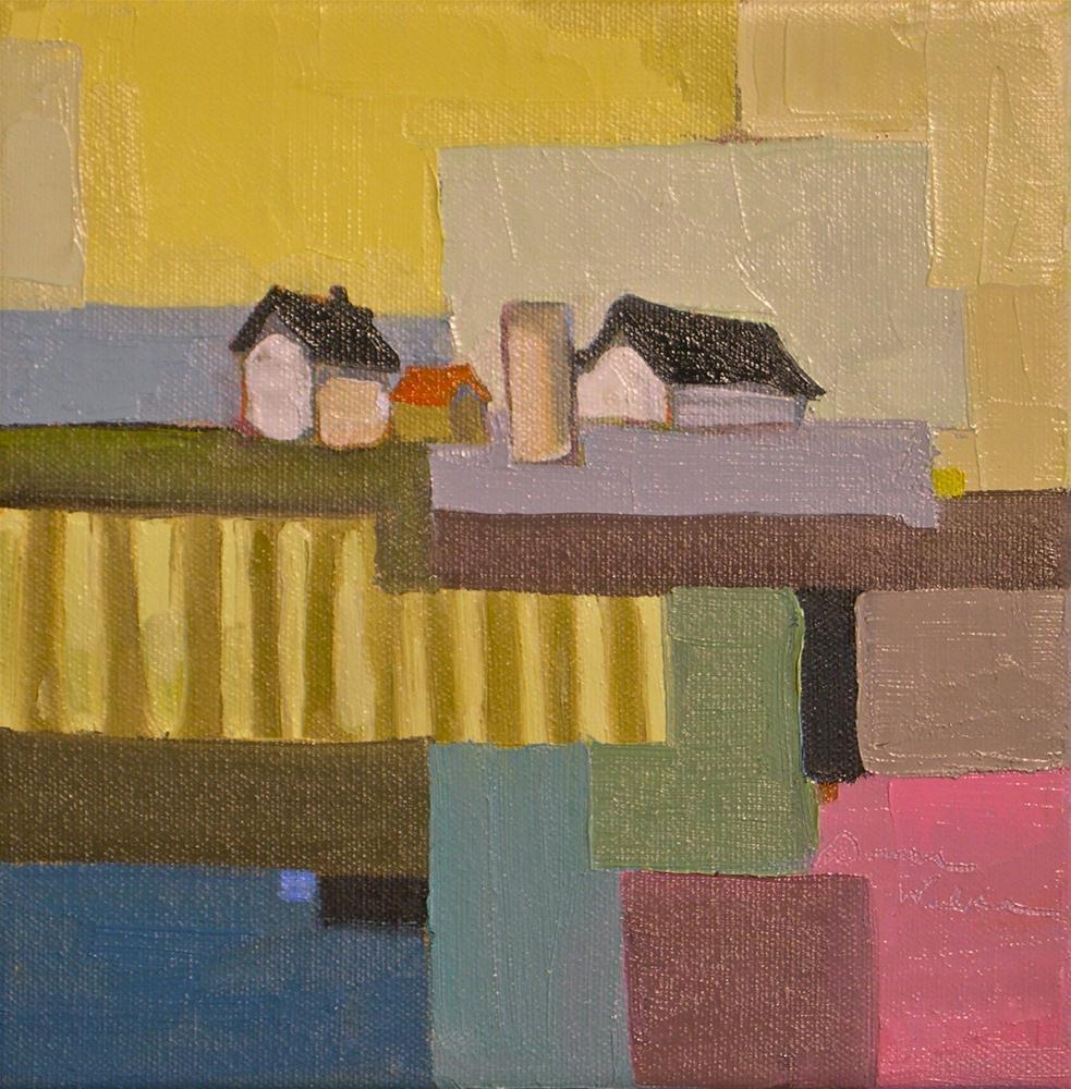 """Farmland Quilt"" original fine art by Donna Walker"