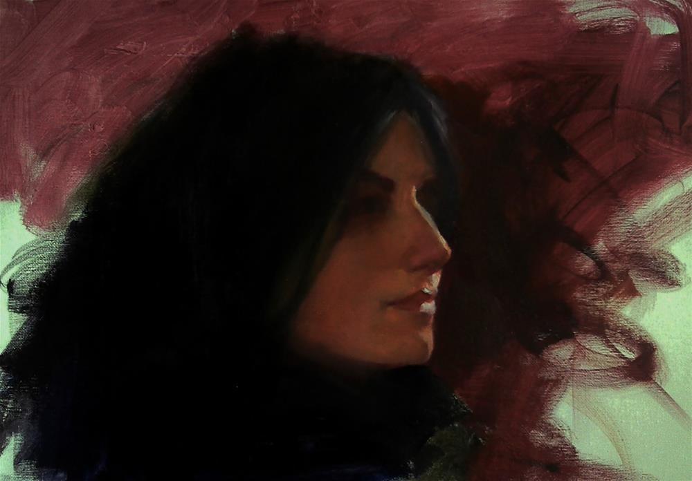 """Maryam"" original fine art by Richard Schiele"