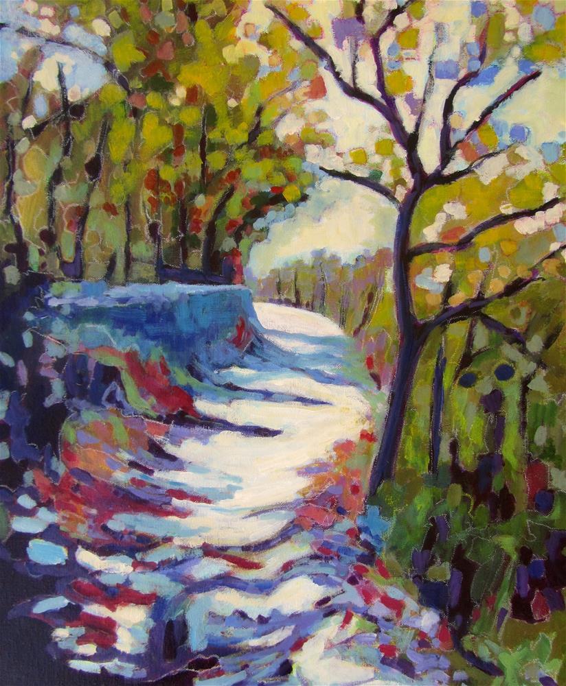 """""""Les Bassacs Promenade II"""" original fine art by Patricia MacDonald"""