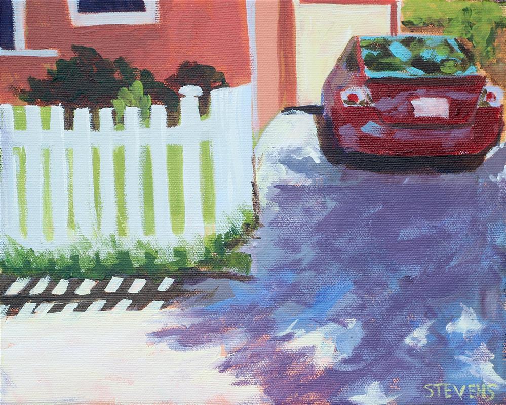 """""""White Picket Fence Challenge"""" original fine art by Jamie Stevens"""
