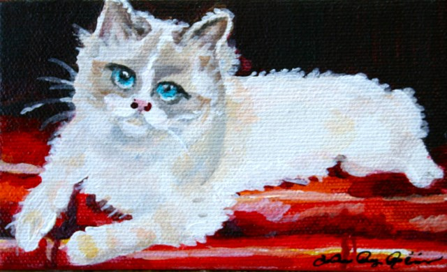 """Pretty Baby"" original fine art by JoAnne Perez Robinson"