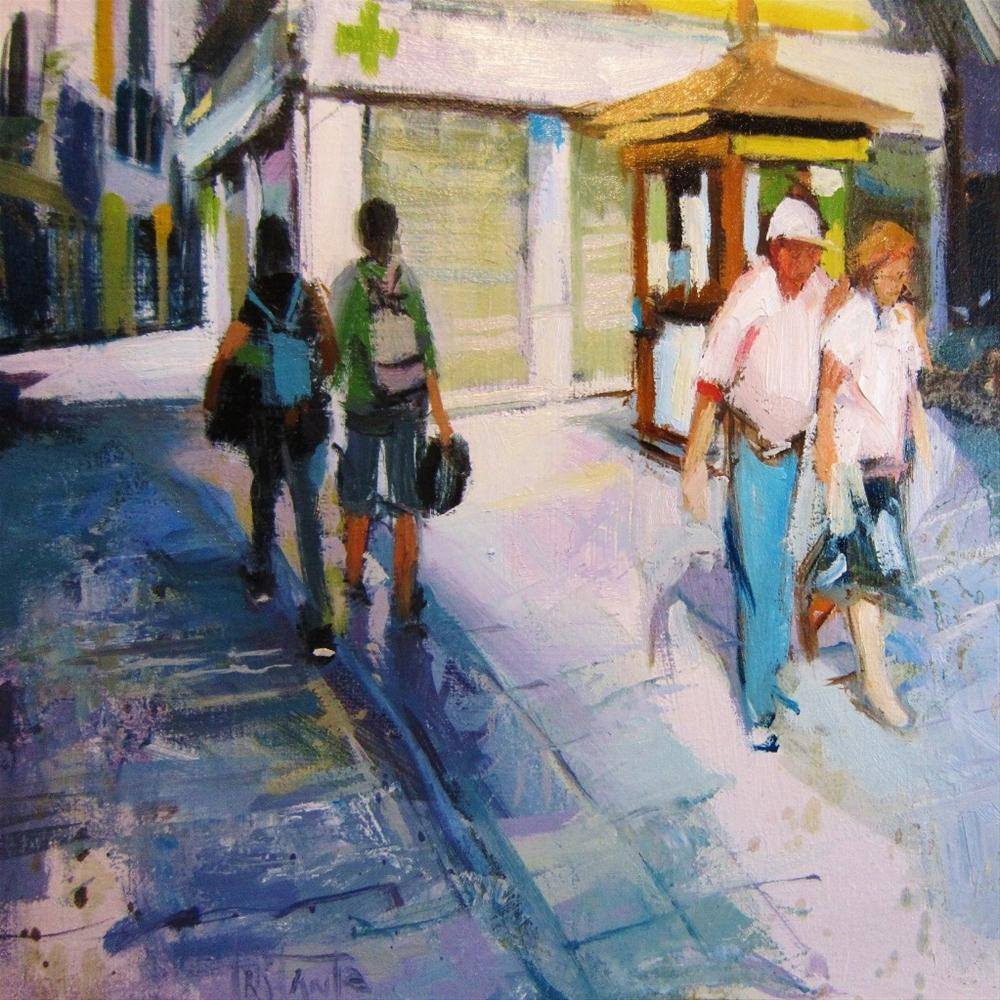 """Opposite paths"" original fine art by Víctor Tristante"