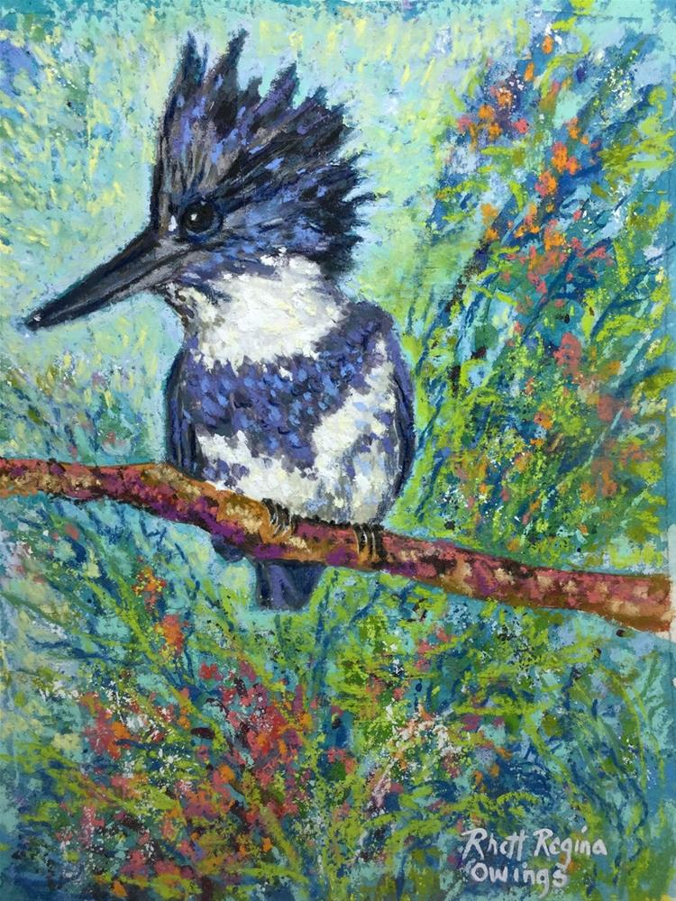 """Kingfisher"" original fine art by Rhett Regina Owings"
