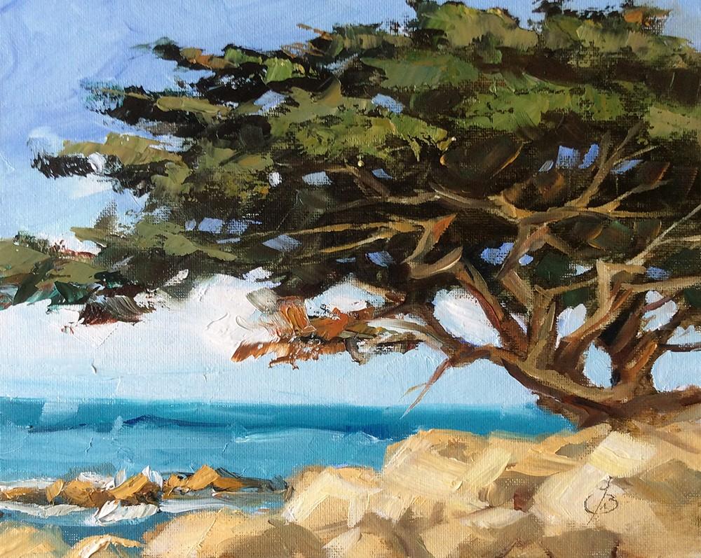 """""""MONTEREY CYPRESS"""" original fine art by Tom Brown"""