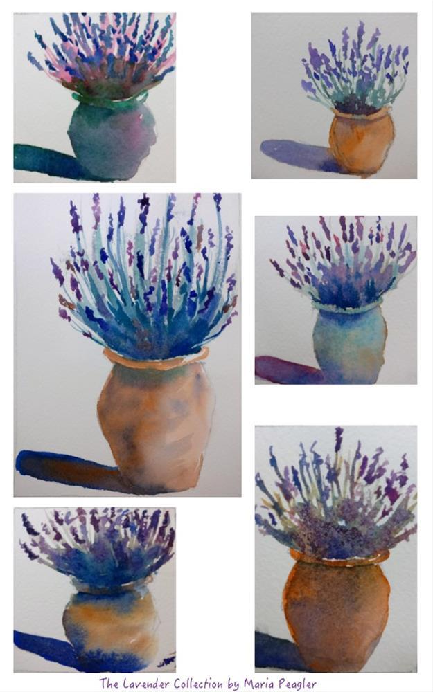 """Lavender Collection"" original fine art by Maria Peagler"