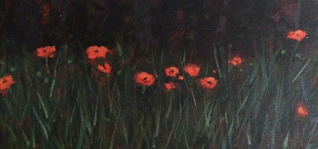 """Poppies, 6x12 inch Acrylic Painting by Kelley MacDonald"" original fine art by Kelley MacDonald"