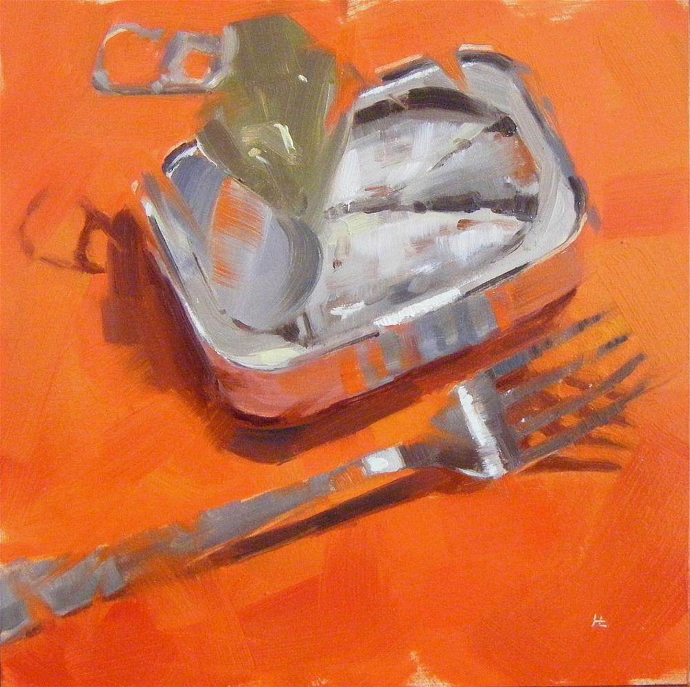 """""""SARDINES"""" original fine art by Helen Cooper"""
