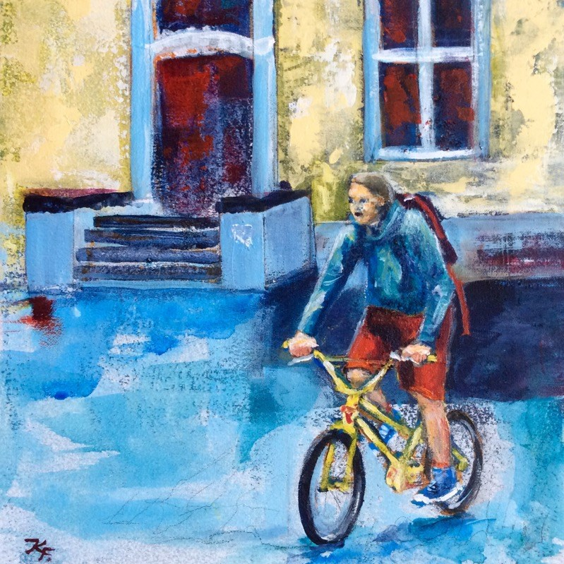 """BMX"" original fine art by Klaudia Frieda"