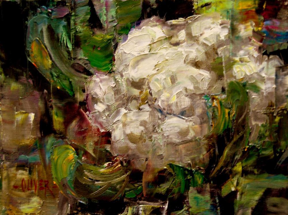 """""""Cauliflower Flower"""" original fine art by Julie Ford Oliver"""
