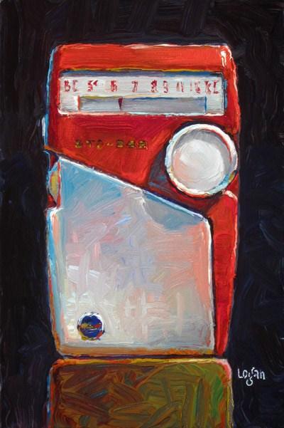 """Toshiba Transistor Radio"" original fine art by Raymond Logan"