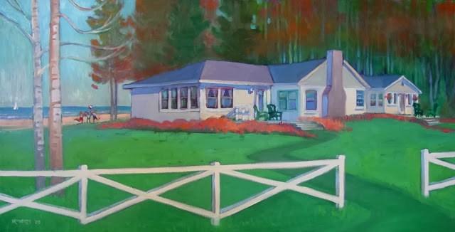 """Portrait of a beloved vacation home"" original fine art by Nancy Roberts"