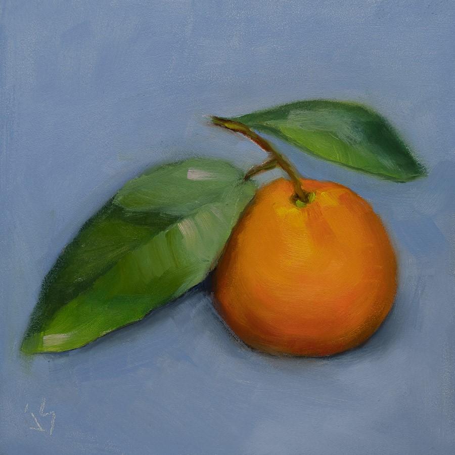 """""""Mandarin Spotlight"""" original fine art by Johnna Schelling"""