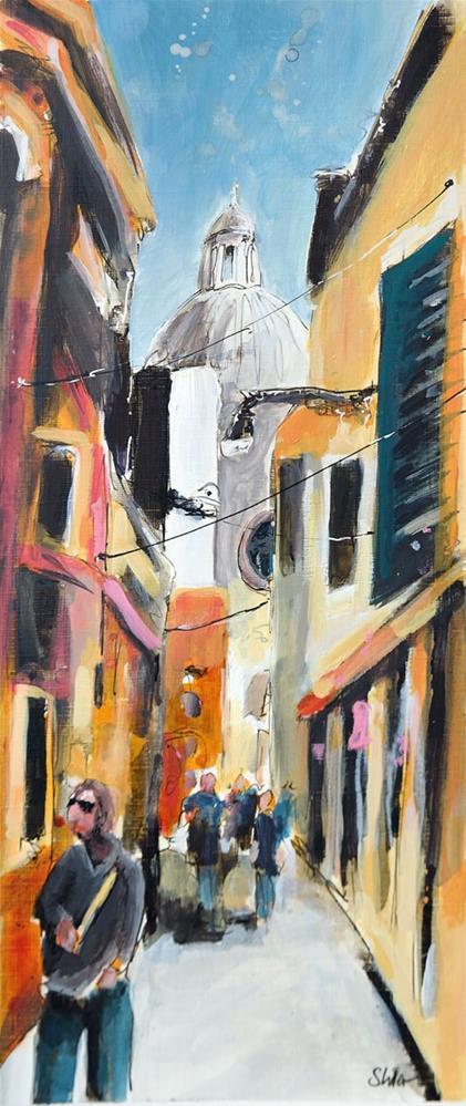 """2810 Street Scene Venice #2"" original fine art by Dietmar Stiller"