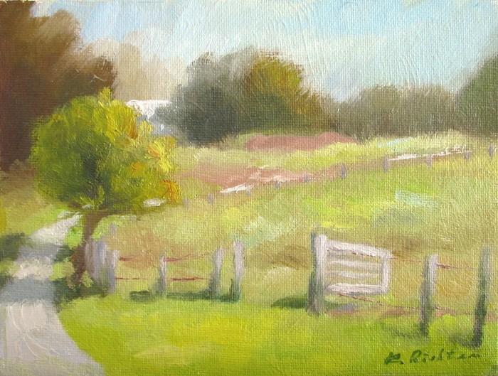"""McDaniel Farm, Late September"" original fine art by Keiko Richter"