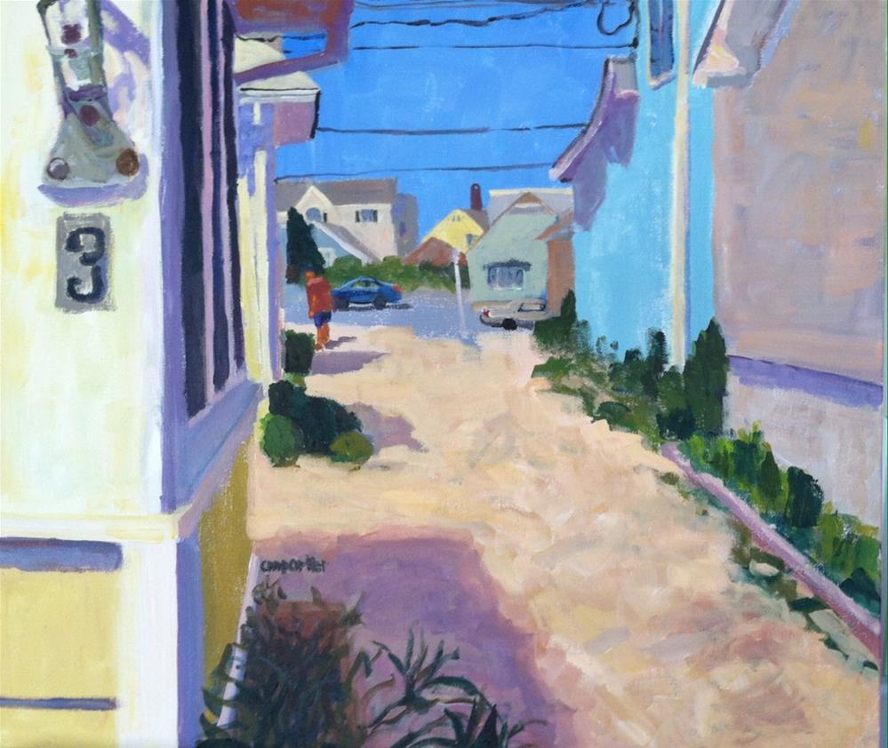 """""""Beach Cottage #3"""" original fine art by Christine Parker"""
