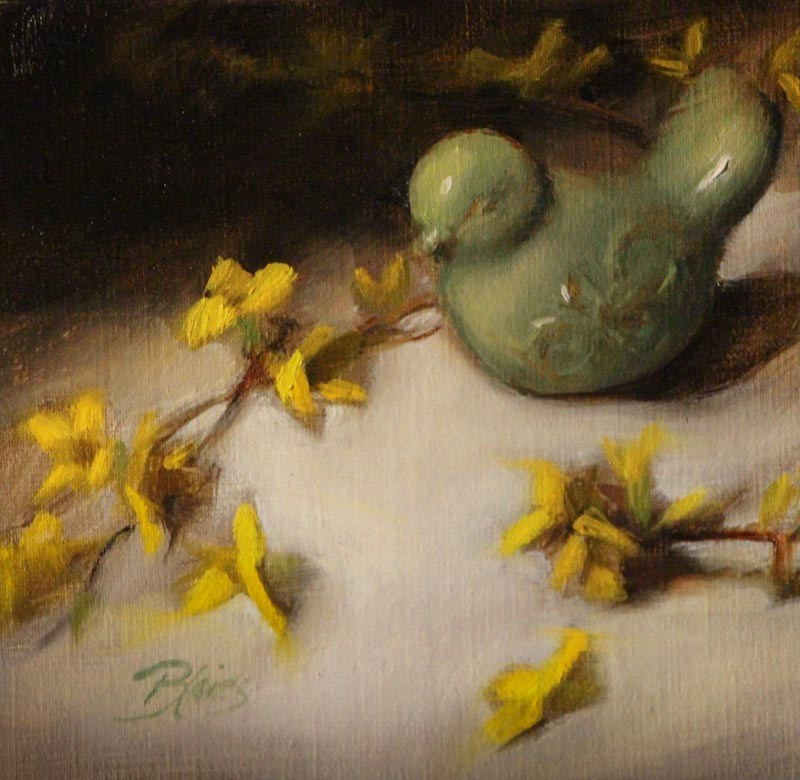 """A Little Birdie Told Me, Too"" original fine art by Pamela Blaies"