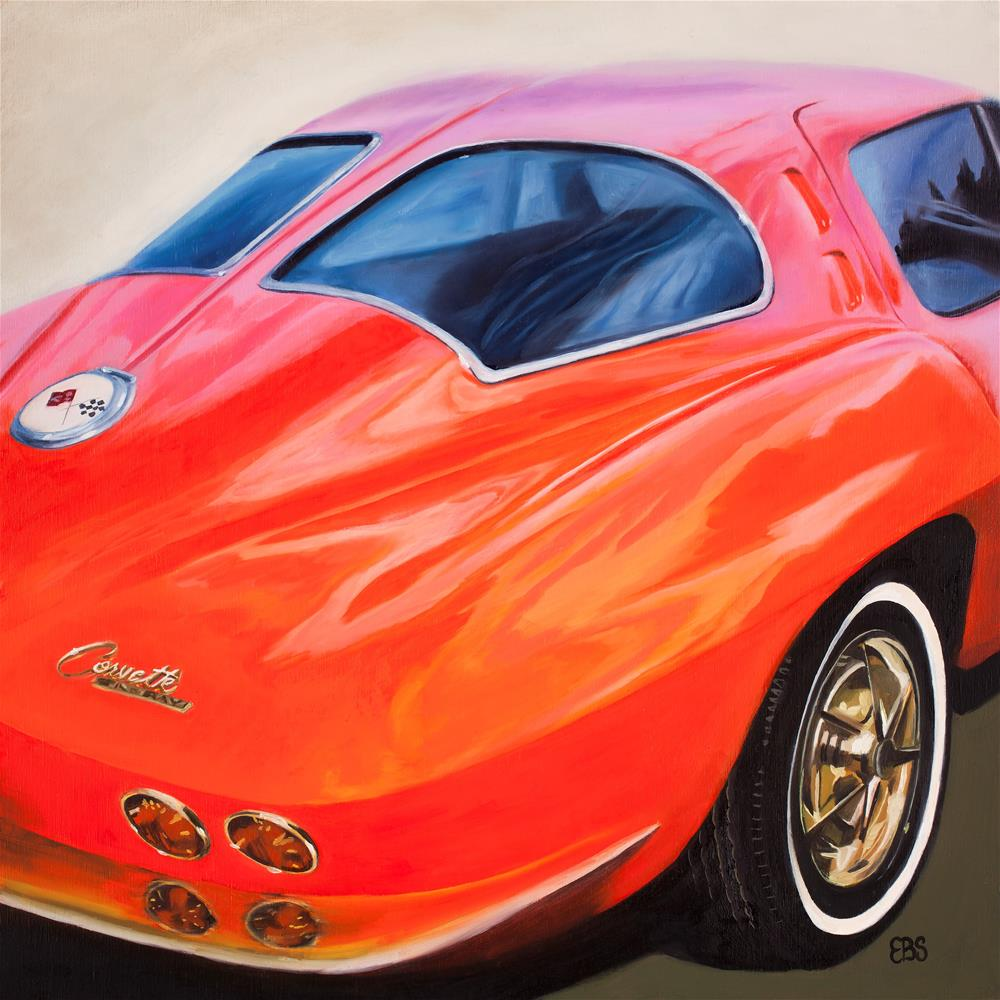 """1963 Split Window Corvette"" original fine art by Elaine Brady Smith"