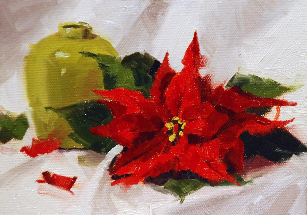 """Poinsettia #3"" original fine art by Susan McManamen"