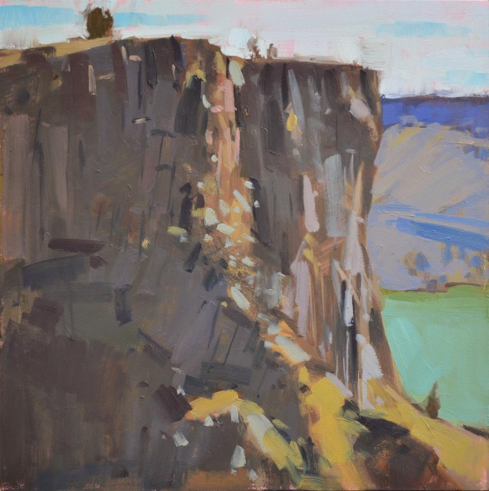 """Carved Cliff"" original fine art by Carol Marine"