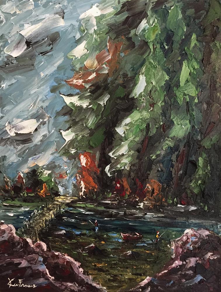 """River Fishin"" original fine art by Ken Fraser"