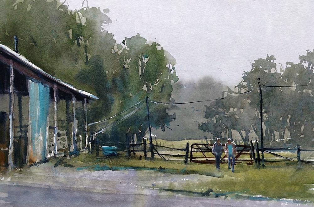"""Farm Life"" original fine art by Brienne  Brown"