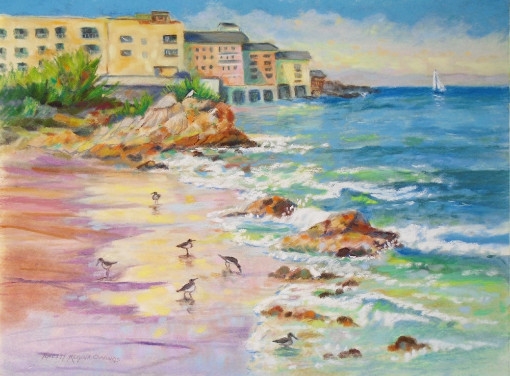 """Sand Reflections"" original fine art by Rhett Regina Owings"