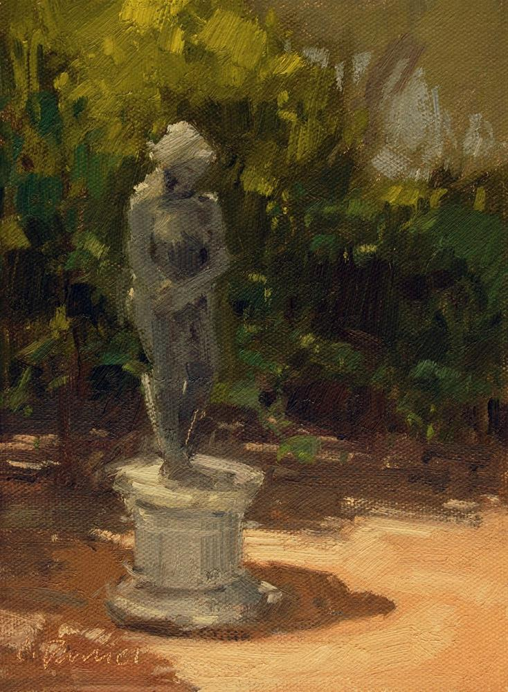 """Waiting"" original fine art by Laurel Daniel"