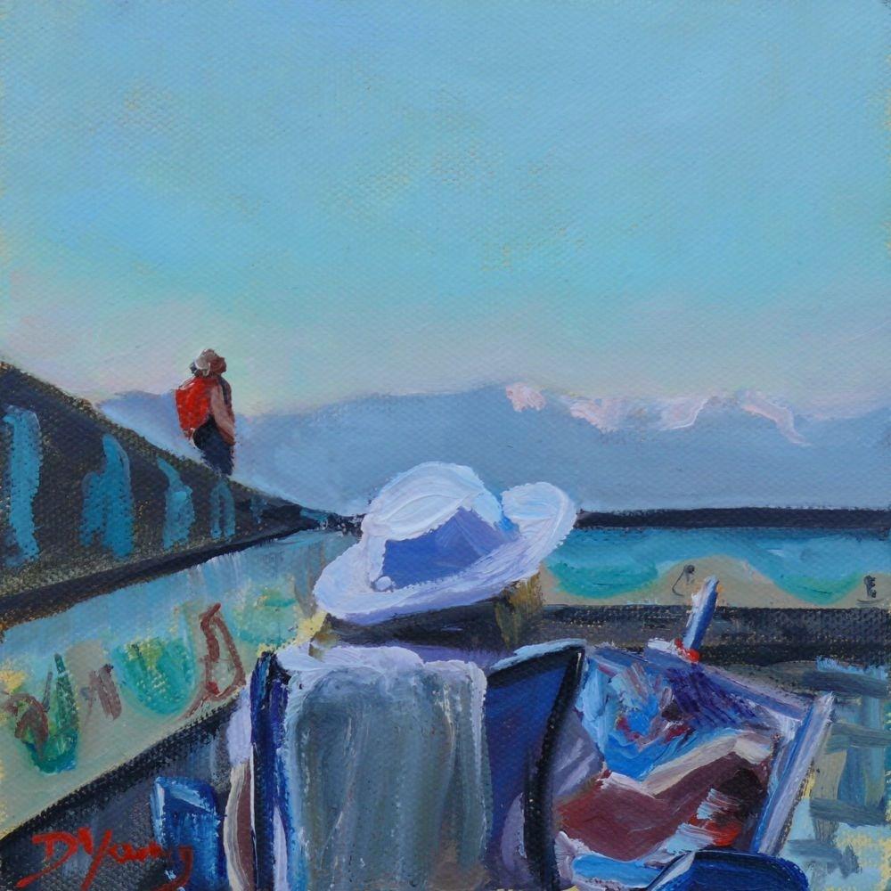"""Artist Painting"" original fine art by Darlene Young"
