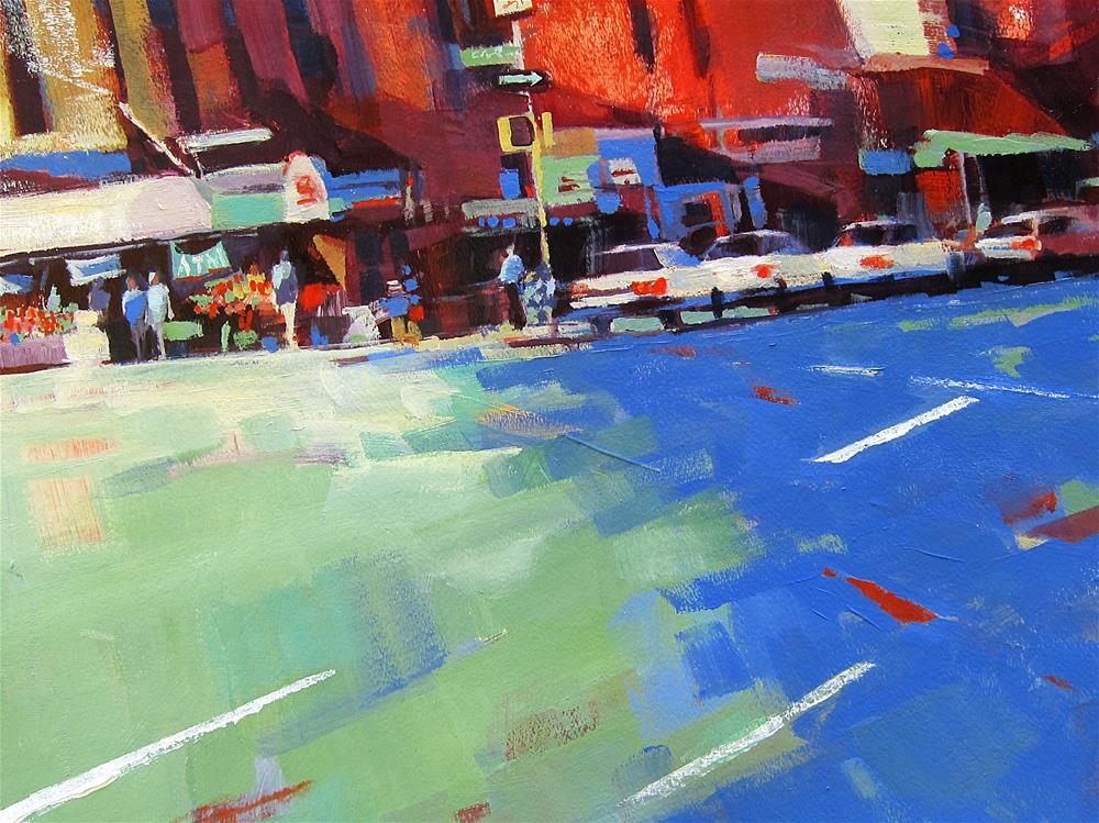 """Northbound on Tenth Ave."" original fine art by Patti Mollica"