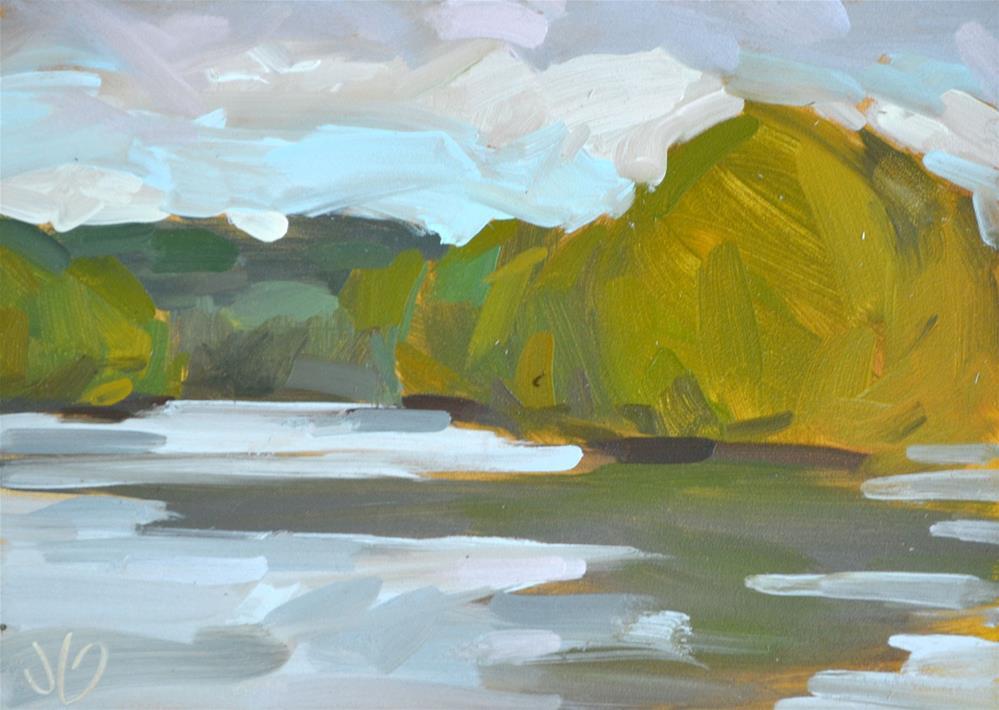 """Peaceful River Study"" original fine art by Jessica Green"