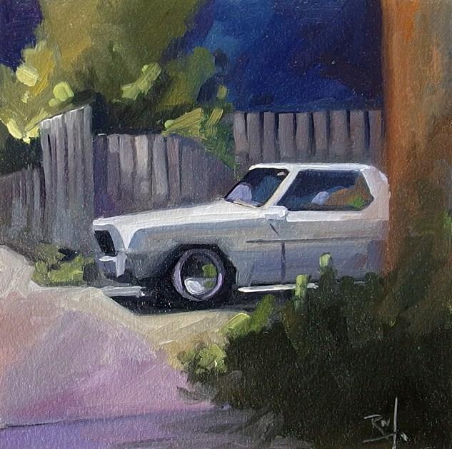"""No 815 Driveway Treasures No4"" original fine art by Robin J Mitchell"
