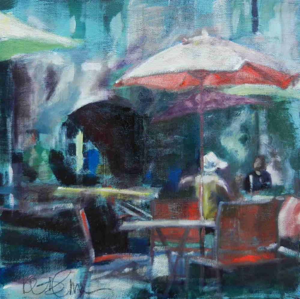 """Cafe Oppede"" original fine art by Kathy Broyles"