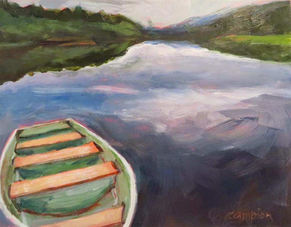 """566. Dusk at Lake Fanny Hoe"" original fine art by Diane Campion"