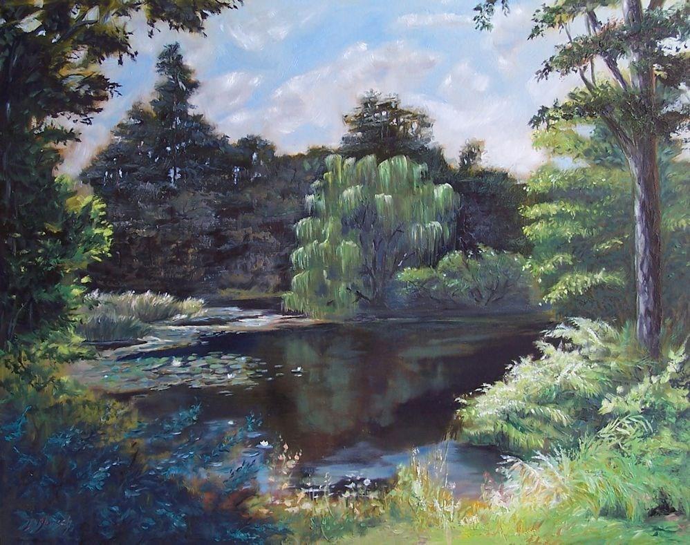 """""""Sunny Lagoon"""" original fine art by Donna Munsch"""