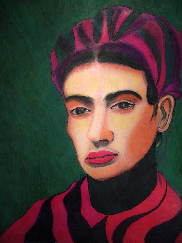"""Insouciant Frida"" original fine art by Terri Brown-Davidson"