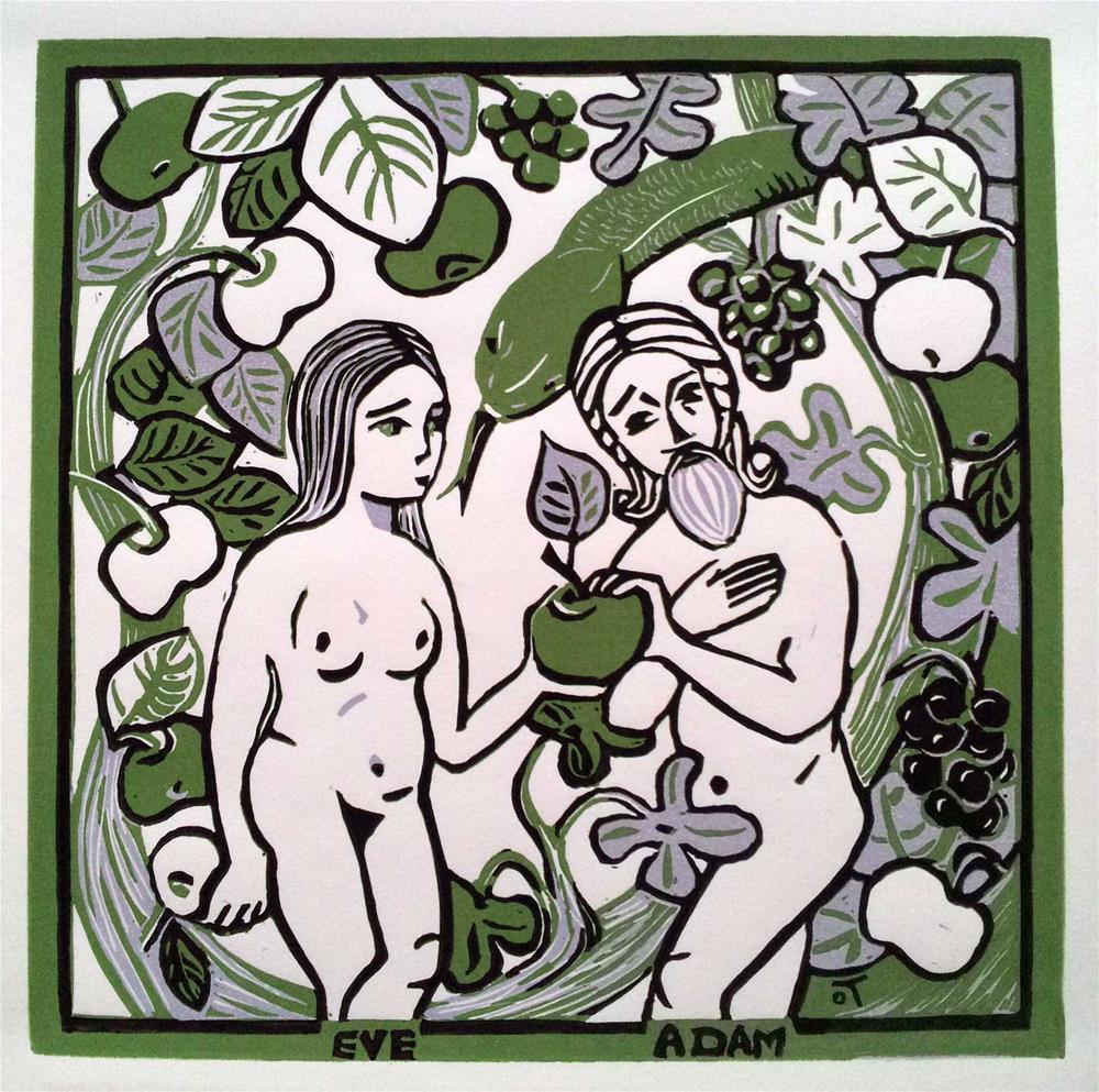 """Eve and Adam"" original fine art by Olga Touboltseva-Lefort"